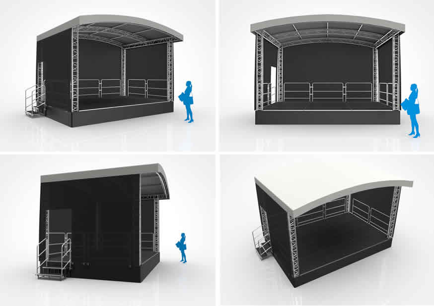 Outdoor Stages | Festival Stage Hire | Covered Staging