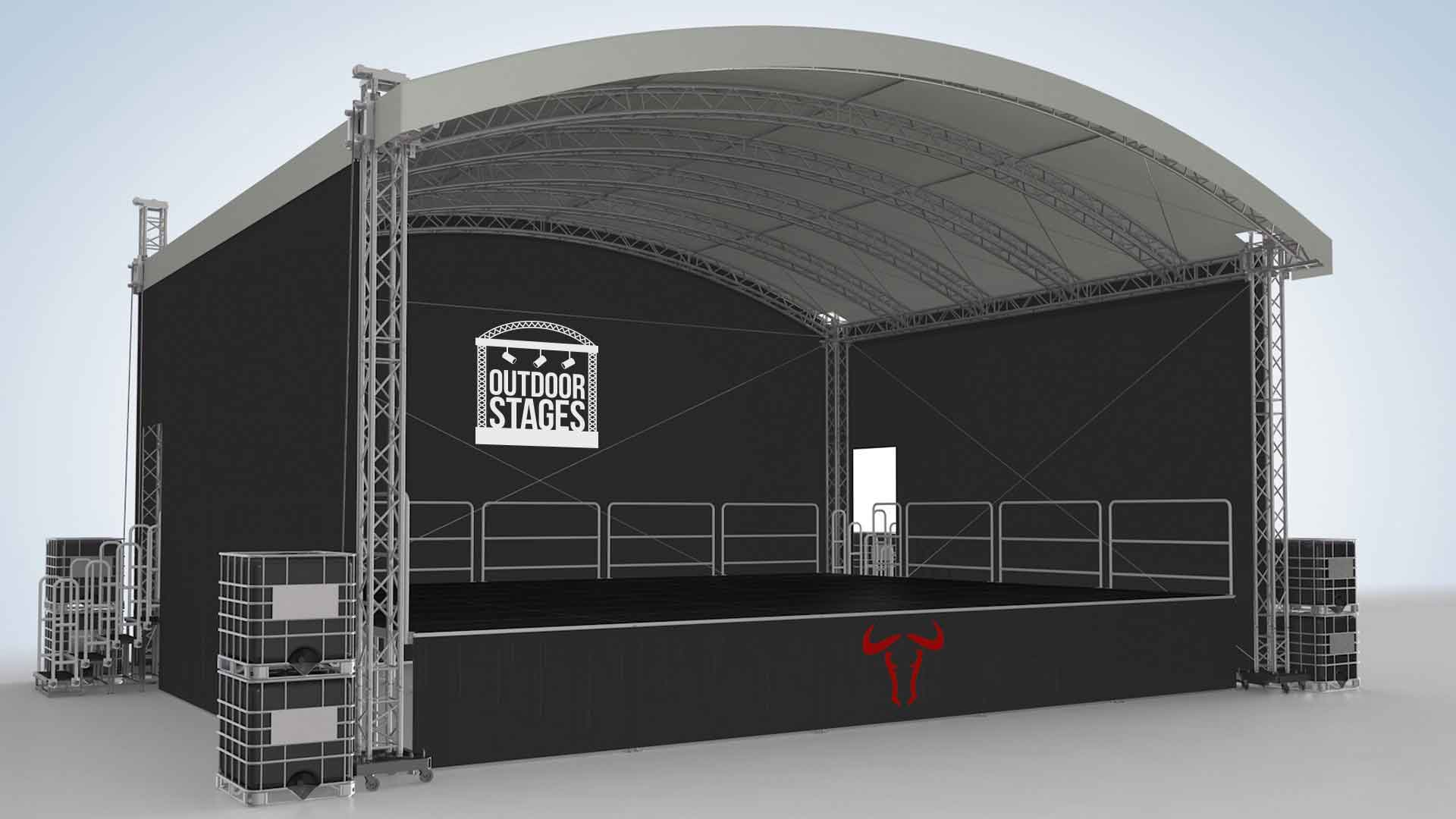 Outdoor Stages Festival Stage Hire Covered Staging